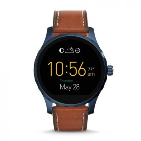 Fossil Orologio Q Marshal Touchscreen Pelle/Acciaio Smartwatch Ftw2106