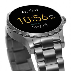 Fossil Watch Q Marshal Touchscreen Black Steel Smartwatch Ftw2108