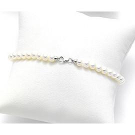 MIKIKO Pearl Bracelet MBC19004FCBI060 GOLD 18 KT WHITE PERLA 6 / 6.5