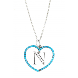 SSC.NAPOLI NECKLACE PIANO HEAD LOGO NAPOLI ZIRC. AZZURRI KF4759