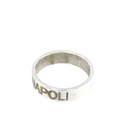 SSC.NAPOLI SILVER RING WITH SILIGRAPHY SSC NAPOLI MIS 12 KF2622