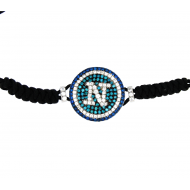 SSC.NAPOLI NAPLES LOGO BRACELET WITH ZAFFIRI AZZ. WHITE GREEN KF4764