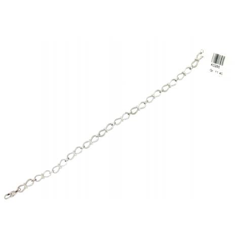 Bracciale Donna Oro Bianco 18Kt con maglie moderne peso 11,40 gr K0265