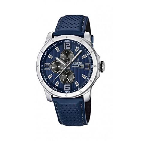 Orologio Uomo FESTINA  cassa acciaio cinturino in pelle blu F16585/3