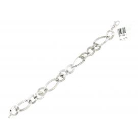Bracciale Donna Oro Bianco 18Kt maglia fantasia peso 8,10 gr S1166
