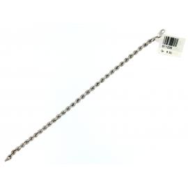 Bracciale Donna Oro Bianco 18Kt  modello corda peso 6,50 gr S11238