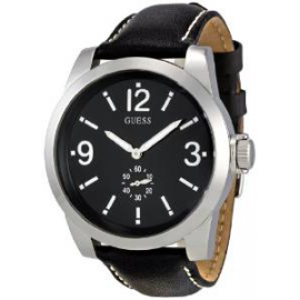 GUESS Watch W10248G1 Men's Leather Case Leather Strap