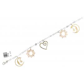 Bracciale Donna Oro Bianco 18Kt modello fantasia peso 9,20 gr V0149