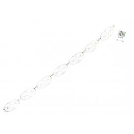 Bracciale Donna Oro Bianco 18Kt modello romantico peso 11,50 gr V3586