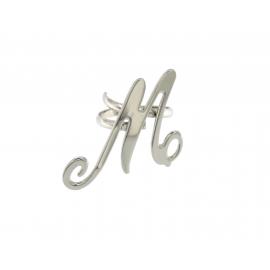 Anello Donna Onai in acciaio con iniziale M