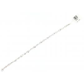 Bracciale Donna Oro Bianco 18Kt con maglie moderna peso 4,60 gr V4203