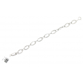 Bracciale Donna Oro Bianco 18Kt con maglie ovali peso 5,90 gr X3154
