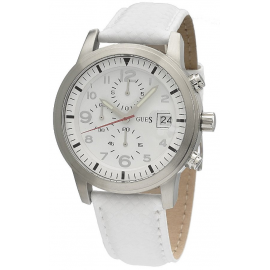 GUESS Watch W11163G3 Men's Leather Case Leather Strap