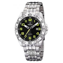 Festina Man F16495 / 4 Gift Set - Steel Yellow Fluo Numbers