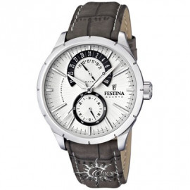 Men's Festina Watch F16573 / 2 Multifunction Leather Strap