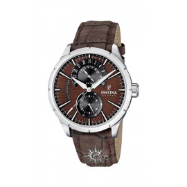Festina F16573 / 6 Multifunction Men's Watch Brown leather strap