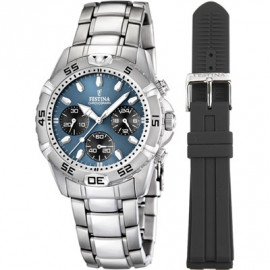 Festina Men's F16635 / 2 Double Watch White Dial Watch