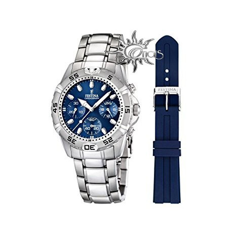 Orologio Uomo Festina F16635/3 Acciaio doppio cinturino quadrante blu