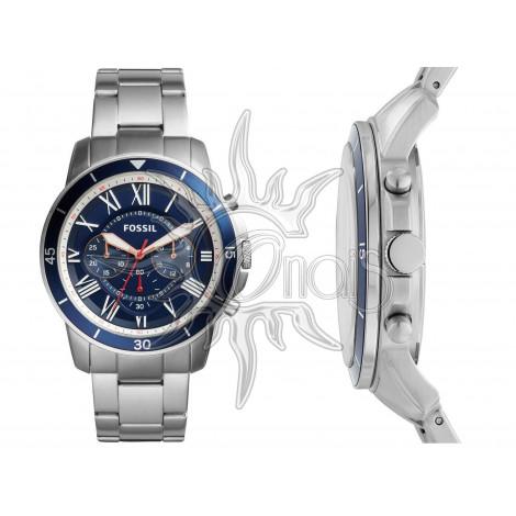 Orologio Uomo Fossil Cronografo Grant Sport FS5238 - Acciaio Blu