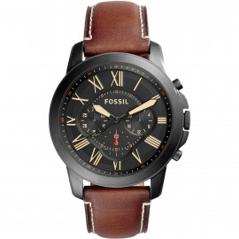 Men's FOSSIL Men's Chronograph Men's Grant FS5241 - Brown Leather