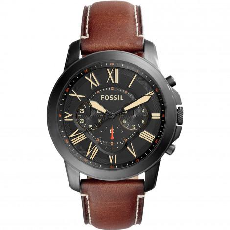 Orologio Uomo FOSSIL Cronografo Uomo Grant FS5241 -Pelle Marrone