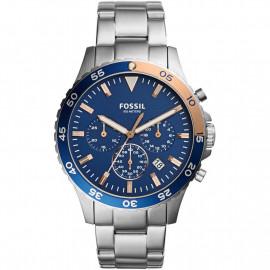 Orologio Uomo Fossil Watch CH3059 Cronografo Acciaio Silver Blu Rosè