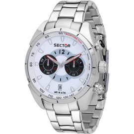 Orologio Uomo Sector Cronografo 330 R3273794004 - Acciaio / Bianco