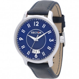Sector 640 Men's Watch with Date R3251593001 - Blue Leather