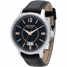 Men's Sector Watch Only Time 640 R3251593003 - Black Leather