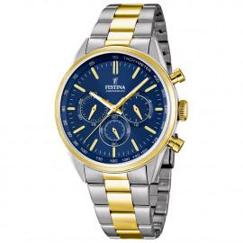 Orologio da uomo Festina cronografo in acciaio/oro F16821- vari colori