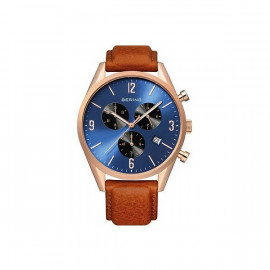 Men's Bering Chronograph Watch 10542-467 Brown Leather