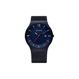 Men's watch BERING 14440-393 Classic strap in milanaise blue