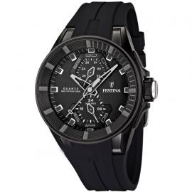 Men's Watch FESTINA F16612 / 4 Black Steel Case Black Gel Strap