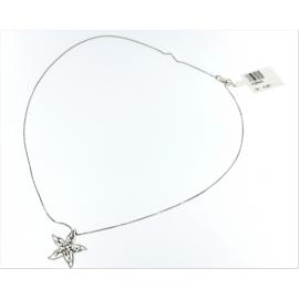 Collana con pendente Oro bianco 18kt stella con zirconi -   H3643