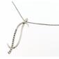 Collana Donna Oro Bianco 18kt con Pendente Zirconato peso 4.20gr-V3639