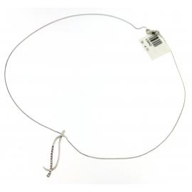 Collana Donna Oro Bianco 18kt con Pendente Zirconato peso 4.10gr-V3642