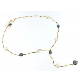 Collana Donna Oro Giallo 18kt con Pietre peso 17,10 gr - X2707
