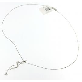 Collana Donna Oro Bianco 18kt con Pendente Zirconato peso 4.40gr-X3369