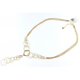 Collana Donna Oro Giallo 18kt pendente con cerchi peso 9.30gr -  S4397