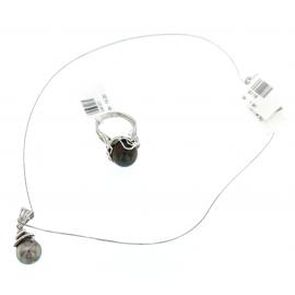 Collana Donna Oro Bianco 18 Con Pendente Perla - X0356