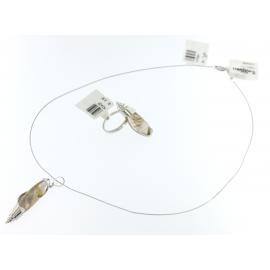 Collana Donna Oro bianco 18kt con Pendente oro/pietra -  H7584