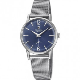 Donna Festina Watch F20258 / 3 Extra Milan Knit Blue Dial