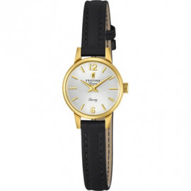 Festina Women's Watch F20261 / 1 Extra - Leather Strap - Gold Case
