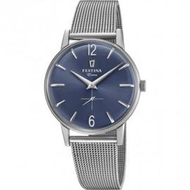 Orologio Uomo Festina F20252/3 Extra Acciaio Quadrante Blu