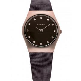 orologio Donna bering 11927-262 Metallo Banda Marrone