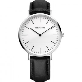 Bering Men's Watch 13738-404 Classic Collection White Black Calf
