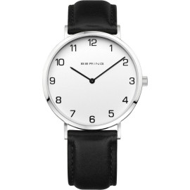 Men's Bering Watch 13940-404 Classic Collection White Black Calf