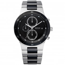 BERING Men's Chronograph Watch in Steel and Ceramic 33341-742