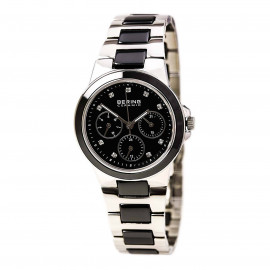 WATCH BERING CHRONO WATCH IN STEEL AND CERAMIC, SWAROSKI 32237-742