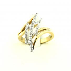 Anello donna oro giallo e zaffiri bianchi 18 kt 7,10 gr H7217